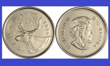 Canada 2006 - 25 cents UNC