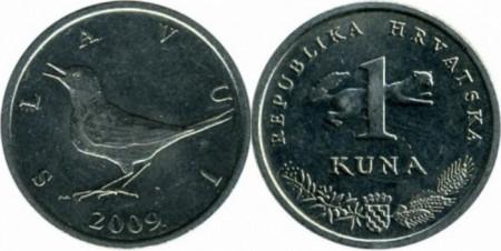 Croatia 2009 - 1 kuna, circulata