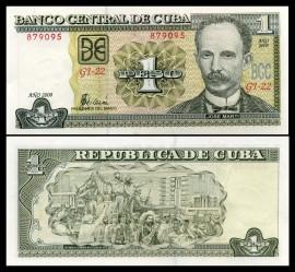 Cuba 2008 - 1 peso, necirculata