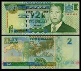 Fiji 2000 - 2 dollars UNC