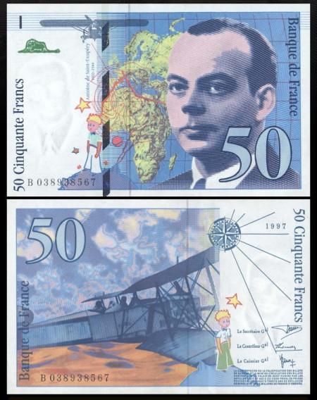 Franta 1997 - 50 franci XF