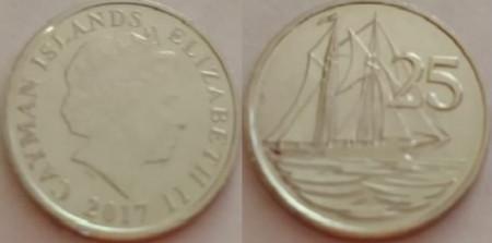 Insulele Cayman 2017 - 25 cents UNC