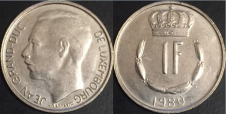 Luxemburg 1980 - 1 franc, circulata