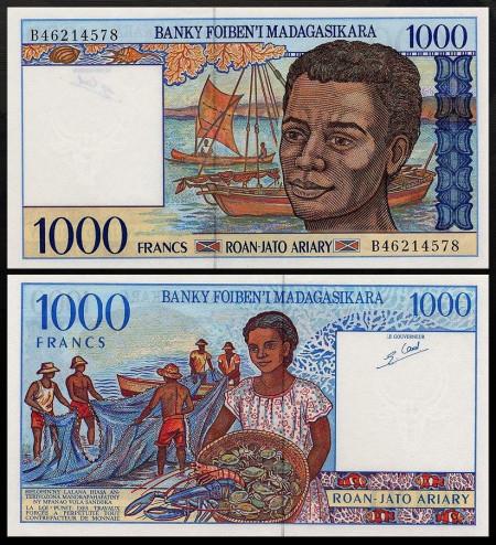 Madagascar 1995 - 1000 franci, necirculata