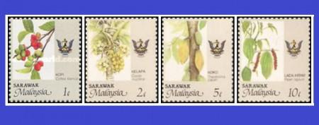 Malaezia-Sarawak 1993 - agricultura, serie scurta neuzata