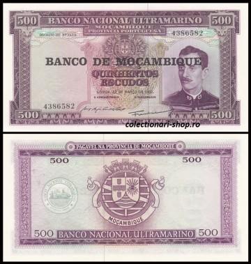 Mozambic 1967 - 500 escudos, necirculata