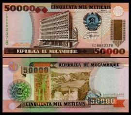 Mozambic 1993 -  50.000 meticais, necirculata