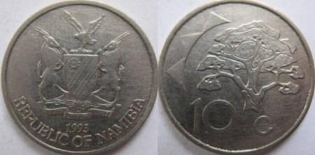 Namibia 1993 - 10 cents, circulata