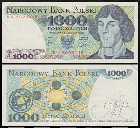 Polonia 1982 - 1000 zloty, necirculata