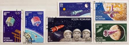 Romania 1965 - Cosmonautică, serie stampilata