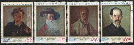 Romania 1972 - pictori, serie stampilata