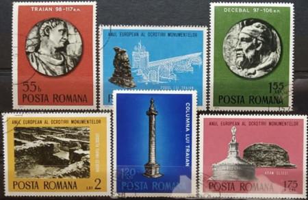 Romania 1975 - Anul European al Ocrotirii Monumentelor, serie stampilata