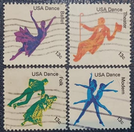 Statele Unite 1978 - dans american, serie stampilata