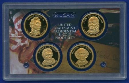 SUA 2008 - 1 dollar - 5th-8th president set, PROOF