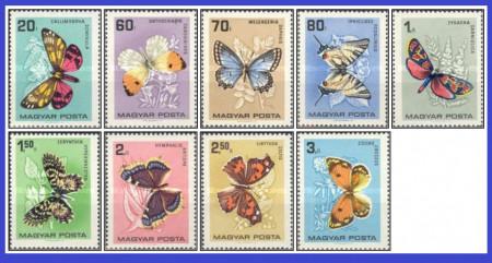 Ungaria 1966 - Fluturi, serie neuzata
