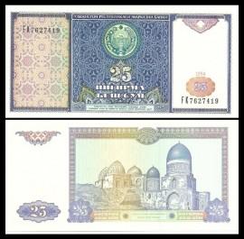 Uzbekistan 1994 -  25 som, necirculata