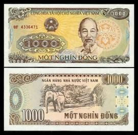 Vietnam 1988 - 1000 dong, necirculata