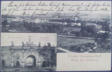 1901 - Alba Iulia, poarta Carol (jud. Alba)