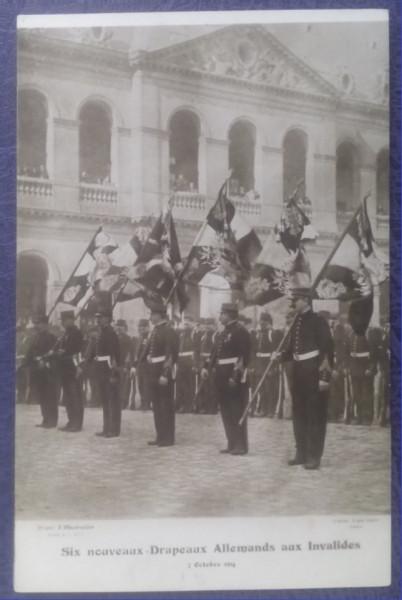 1914 - Paris, 6 steaguri germane nevalabile