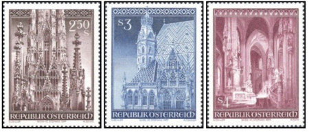 Austria 1977 - Catedrala Sf. Ștefan, serie neuzata