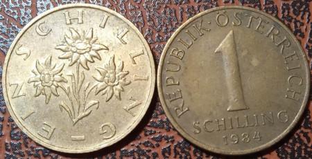 Austria 1984 - 1 schilling, circulata