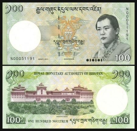 Bhutan 2011 - 100 ngultrum, necirculata