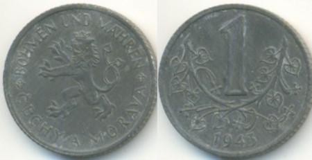 Bohemia & Moravia 1943 - 1 koruna, circulata