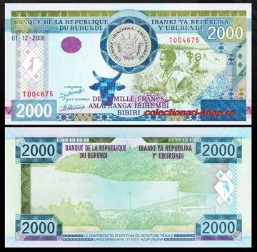 Burundi 2008 - 2000 francs, necirculata