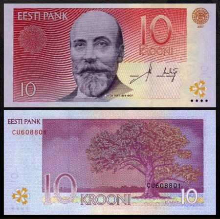 Estonia 2007 - 10 krooni, necirculata