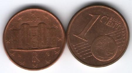 Franta 2007 - 1 eurocent, circulata
