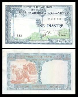 Indochina 1954 - 1 piastre, circulata