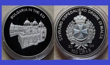 Malta 2004 - 100 lire, proof - Bulgaria in UE