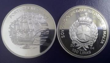 Malta 2004 - 100 lire, proof - Portugalia in UE