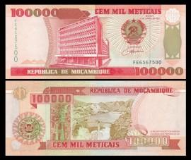 Mozambic 1993 - 100.000 meticais, necirculata