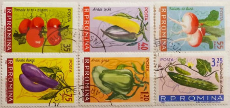 Romania 1963 - Cultura legumelor timpurii, serie stampilata