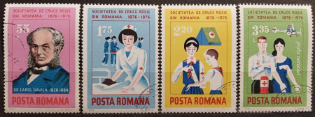 Romania 1976 - Centenarul Crucii Roşii, serie stampilata
