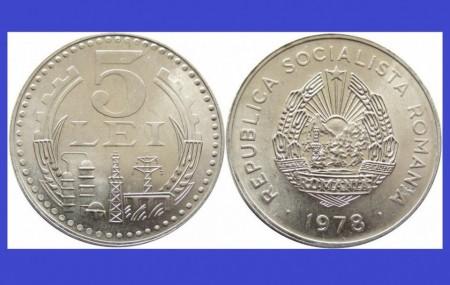 Poze Romania 1978 - 5 lei UNC