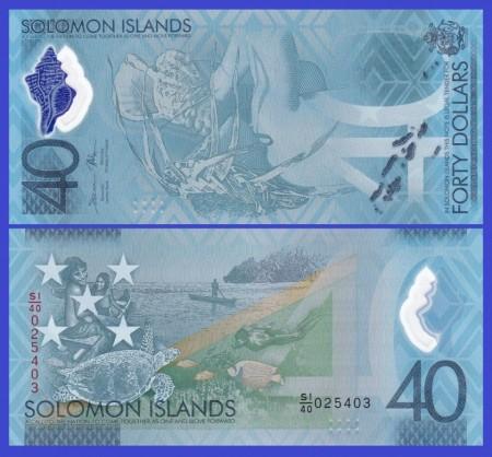 Poze Solomon Islands 2018 - 40 dollars, aUNC - comemorativ