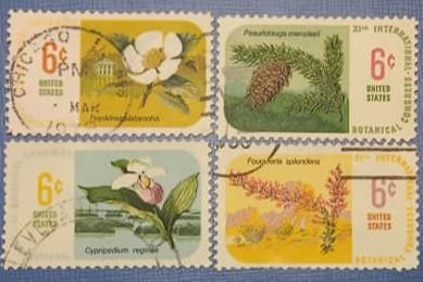 Statele Unite 1969 - flora, serie stampilata