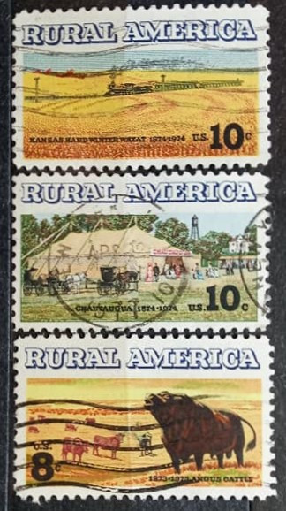 Statele Unite 1973 - America rurala, serie stampilata