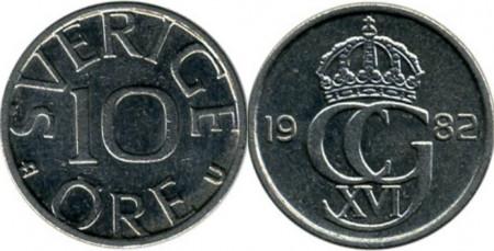 Suedia 1982 - 10 ore, circulata