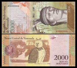 Venezuela 2016 -  2000 bolivares, necirculata