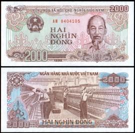 Vietnam 1988 - 2000 dong, necirculata