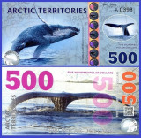 Antarctica 2017 - 500 dollars, necirculata