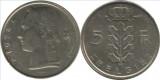 Belgia 1974 - 5 franci, circulata - in Franceză