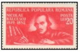 Romania 1948 - 130 de ani de la naşterea lui Nicolae Bălcescu, neuzata