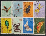 Romania 1964 - Insecte din fauna ţării noastre, serie stampilata