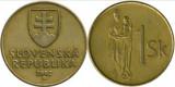 Slovacia 2002 - 1 korun, circulata
