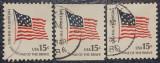 Statele Unite 1978 - steagul din 1795-1818, serie stampilata
