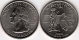 SUA 2000D - 25 cents, circulata - Massachusetts
